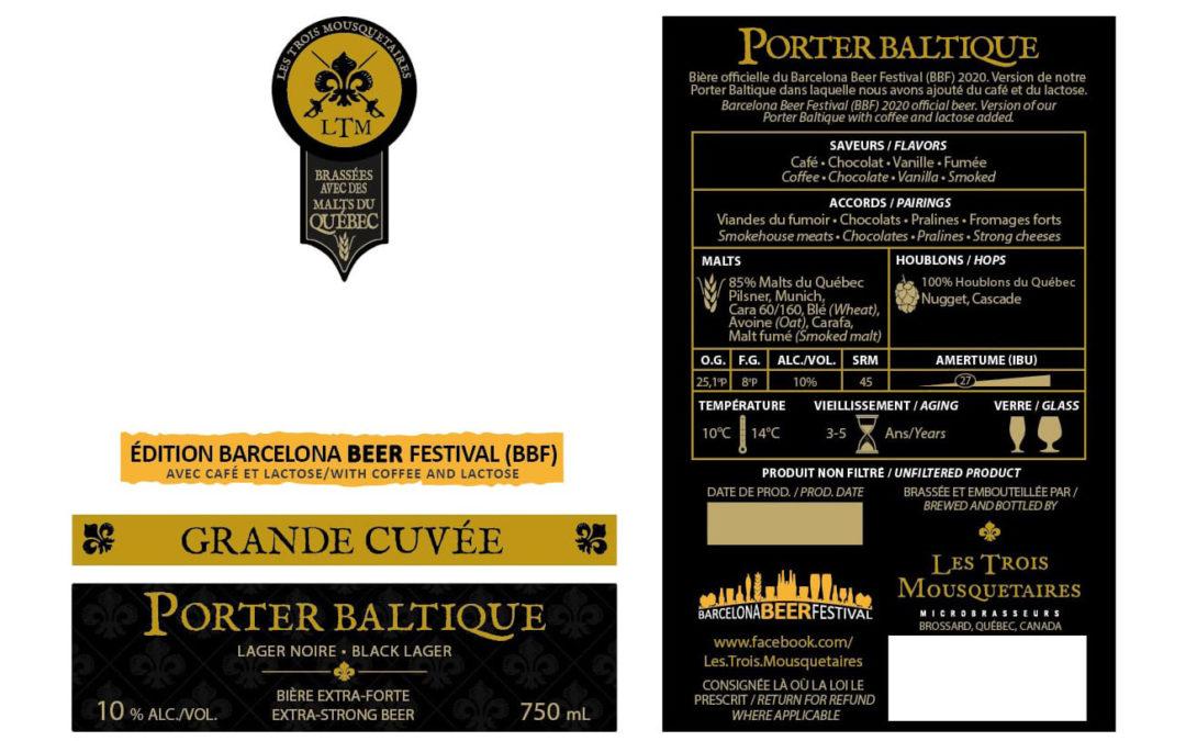 Les Trois Mousquetaires (Québec) és l'encarregada de l'edició especial del Barcelona Beer Festival 2020